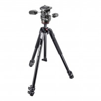 Manfrotto 190X3 + Rótula 804 MKII 3 WAY (Aluminio)