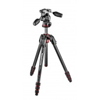 Manfrotto 190 GO! + Rótula 3 WAY (Fibra de Carbono)